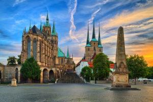 Erfurt Dom am Abend